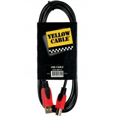 YELLOW CABLE N01-03 - Cable USB A/B 3m