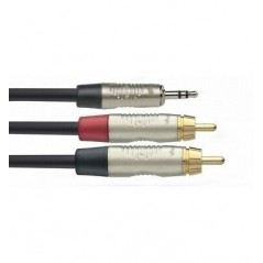 STAGG NYC3/MPS2CMR Cable Y mini jack Stereo - 2 rca 3 M