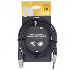 STAGG NMC6XPR Cable microphone XLR/JACK 6M